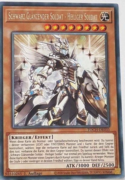 Schwarz Glänzender Soldat - Heiliger Soldat TOCH-DE035 ist in Rare Yu-Gi-Oh Karte aus Toon Chaos 1.Auflage