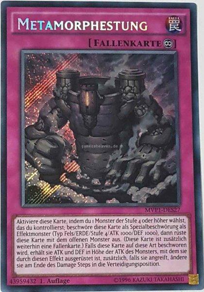 Metamorphestung MVP1-DES27 ist in Secret Rare aus The Dark Side of Dimensions Movie Pack Secret Edition 1.Auflage