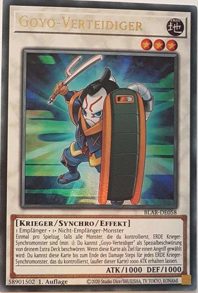 Goyo-Verteidiger BLAR-DE058 ist in Ultra Rare Yu-Gi-Oh Karte aus Battles of Legend: Armageddon 1.Auflage