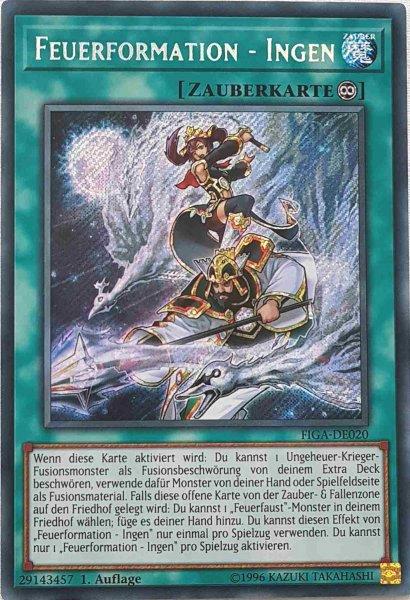 Feuerformation - Ingen FIGA-DE020 ist in Secret Rare Yu-Gi-Oh Karte aus Fists of the Gadgets 1.Auflage