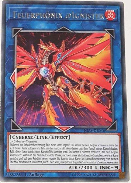 Feuerphönix @Ignister IGAS-DE046 ist in Rare Yu-Gi-Oh Karte aus Ignition Assault 1.Auflage