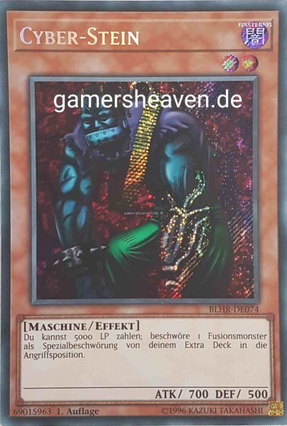 Cyber-Stein BLHR-DE074 ist in Secret Rare aus Battles of Legend: Hero's Revenge 1.Auflage