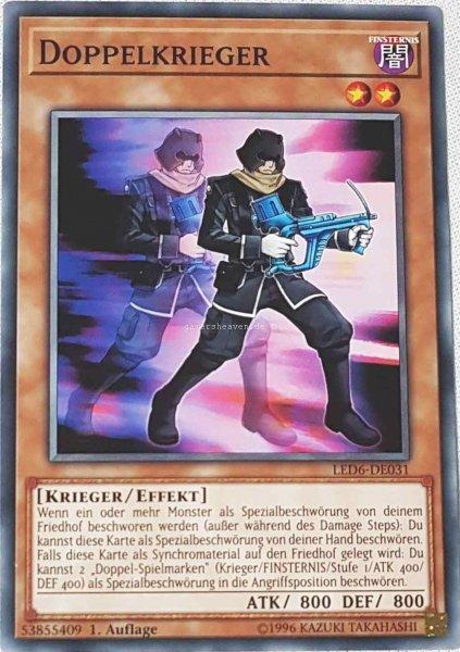 Doppelkrieger LED6-DE031 ist in Common aus Legendary Duelists: Magical Hero 1.Auflage
