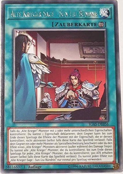 Alte Krieger-Sage - Sun-Liu-Bündnis IGAS-DE056 ist in Rare Yu-Gi-Oh Karte aus Ignition Assault 1.Auflage
