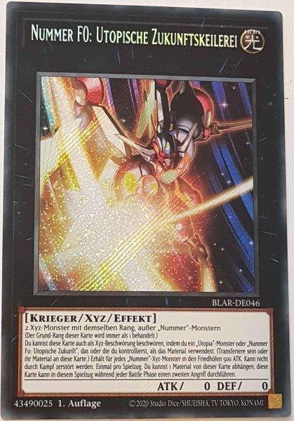 Nummer F0: Utopische Zukunftskeilerei BLAR-DE046 ist in Secret Rare Yu-Gi-Oh Karte aus Battles of Legend: Armageddon 1.Auflage