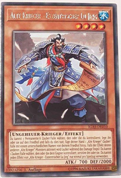 Alte Krieger - Exzentrischer Lu Jing IGAS-DE010 ist in Rare Yu-Gi-Oh Karte aus Ignition Assault 1.Auflage