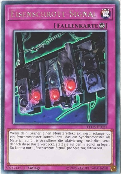 Eisenschrott-Signal LED6-DE027 ist in Rare aus Legendary Duelists: Magical Hero 1.Auflage