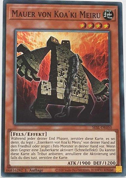 Mauer von Koa'ki Meiru SESL-DE050 ist in Super Rare Yu-Gi-Oh Karte aus Secret Slayers 1.Auflage