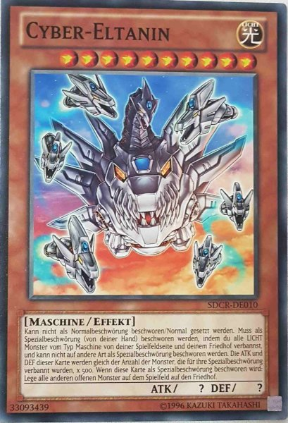 Cyber-Eltanin SDCR-DE010 ist in Common Yu-Gi-Oh Karte aus Cyber Dragon Revolution