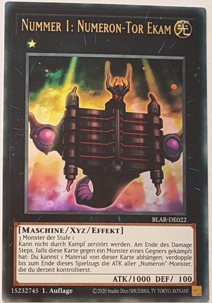 Nummer 1: Numeron-Tor Ekam BLAR-DE022 ist in Ultra Rare Yu-Gi-Oh Karte aus Battles of Legend: Armageddon 1.Auflage