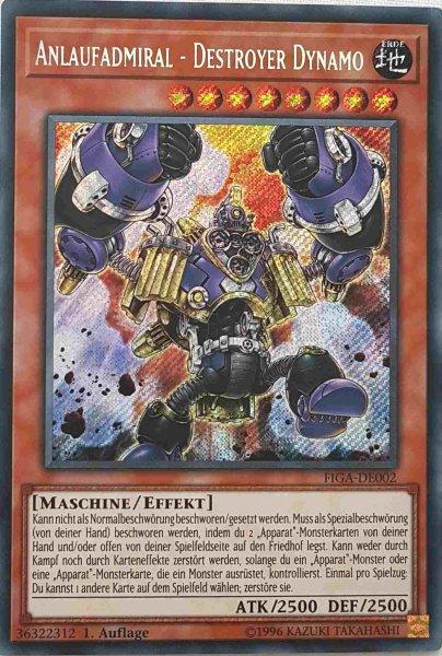 Anlaufadmiral - Destroyer Dynamo FIGA-DE002 ist in Secret Rare Yu-Gi-Oh Karte aus Fists of the Gadgets 1.Auflage