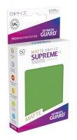 Ultimate Guard Supreme UX Kartenhüllen Japanische Größe Grün Matt (60)