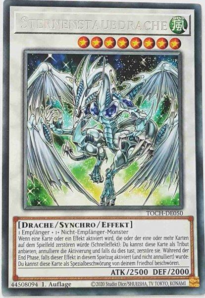 Sternenstaubdrache TOCH-DE050 ist in Rare Yu-Gi-Oh Karte aus Toon Chaos 1.Auflage