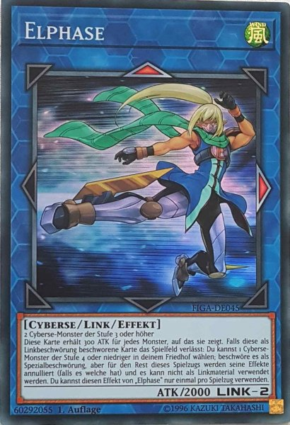 Elphase FIGA-DE045 ist in Super Rare Yu-Gi-Oh Karte aus Fists of the Gadgets 1.Auflage