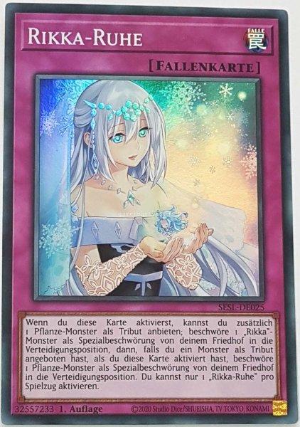 Rikka-Ruhe SESL-DE025 ist in Super Rare Yu-Gi-Oh Karte aus Secret Slayers 1.Auflage