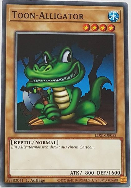 Toon-Alligator LDS1-DE052 ist in Common Yu-Gi-Oh Karte aus Legendary Duelists: Season 1 1.Auflage