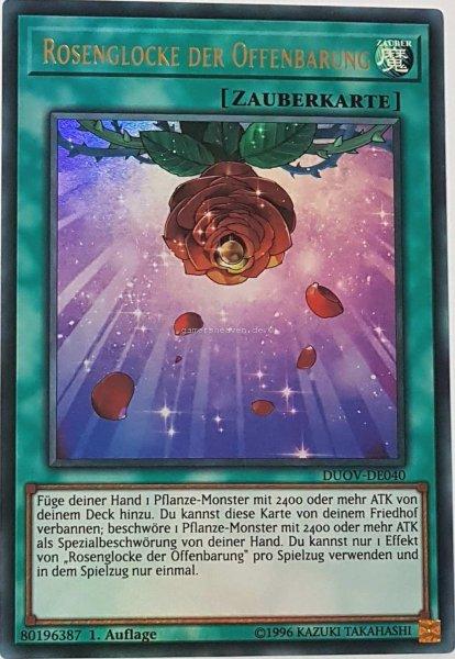 Rosenglocke der Offenbarung DUOV-DE040 ist in Ultra Rare Yu-Gi-Oh Karte aus Duel Overload 1.Auflage