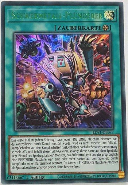 Schwermetall-Plünderer (grün) LDS1-DE077 ist in Colorful Ultra Rare Yu-Gi-Oh Karte aus Legendary Duelists: Season 1 1.Auflage