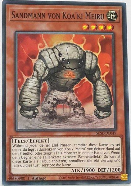 Sandmann von Koa'ki Meiru SESL-DE049 ist in Super Rare Yu-Gi-Oh Karte aus Secret Slayers 1.Auflage