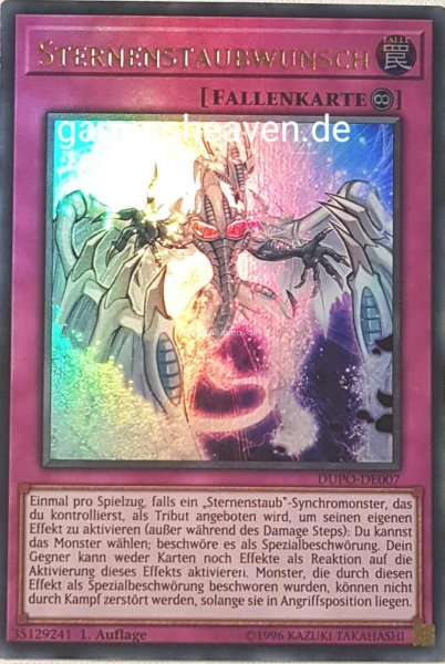 Sternenstaubwunsch DUPO-DE007 ist in Ultra Rare aus Duel Power 1.Auflage