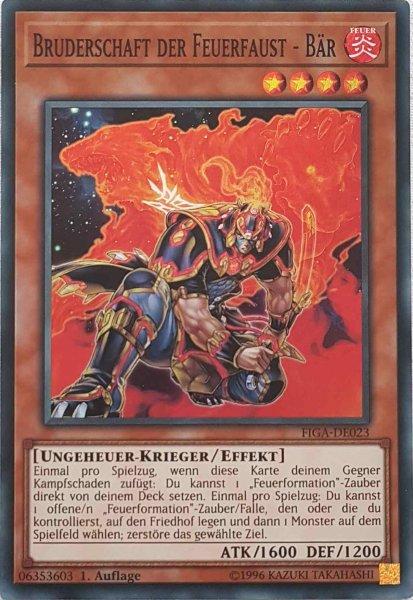 Bruderschaft der Feuerfaust - Bär FIGA-DE023 ist in Super Rare Yu-Gi-Oh Karte aus Fists of the Gadgets 1.Auflage
