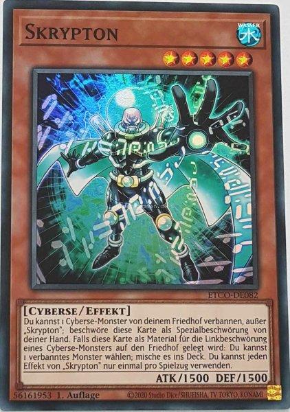 Skrypton ETCO-DE082 ist in Super Rare Yu-Gi-Oh Karte aus Eternity Code 1.Auflage