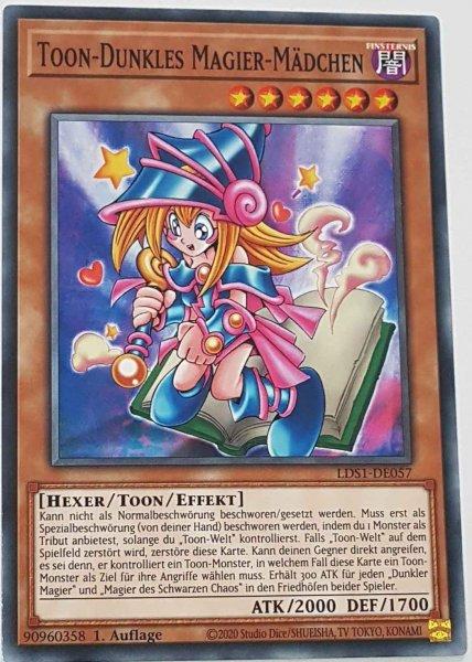 Toon-Dunkles Magier-Mädchen LDS1-DE057 ist in Common Yu-Gi-Oh Karte aus Legendary Duelists: Season 1 1.Auflage