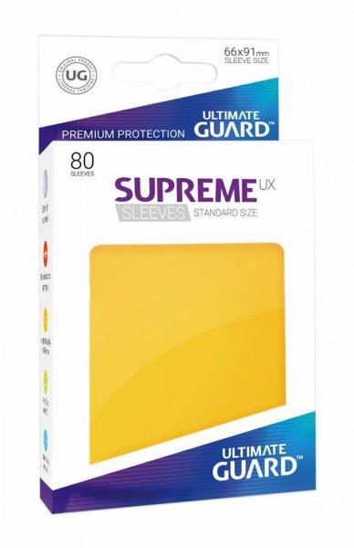 Ultimate Guard Supreme UX Kartenhüllen Standardgröße Gelb (80)