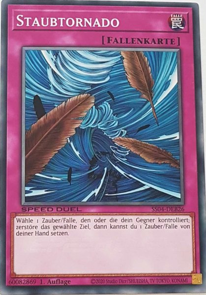 Staubtornado SS04-DEB26 ist in Common Yu-Gi-Oh Karte aus Match of the Millennium 1.Auflage