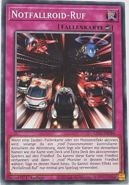 Notfallroid-Ruf LDS1-DE044 ist in Common Yu-Gi-Oh Karte aus Legendary Duelists: Season 1 1.Auflage