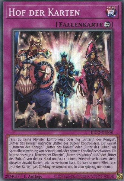 Hof der Karten KICO-DE008 ist in Super Rare Yu-Gi-Oh Karte aus King's Court 1.Auflage
