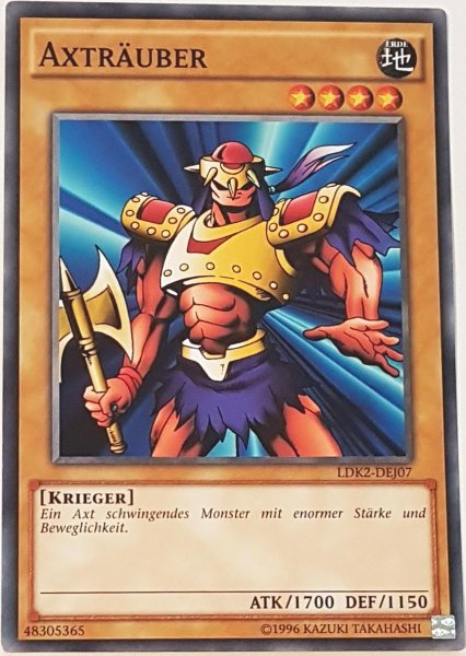 Axträuber LDK2-DEJ07 ist in Common Yu-Gi-Oh Karte aus Legendary Decks 2