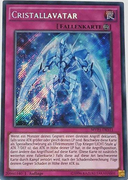 Cristallavatar MVP1-DES11 ist in Secret Rare aus The Dark Side of Dimensions Movie Pack Secret Edition 1.Auflage