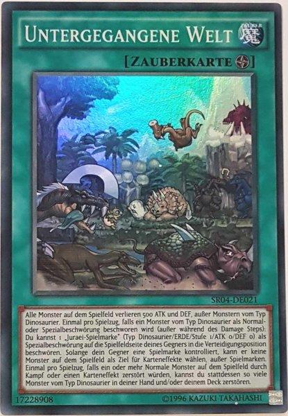 Untergegangene Welt SR04-DE021 ist in Super Rare Yu-Gi-Oh Karte aus Dinosmasher's Fury