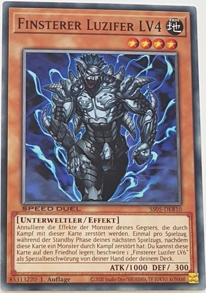 Finsterer Luzifer LV4 SS05-DEB10 ist in Common Yu-Gi-Oh Karte aus Twisted Nightmares 1.Auflage