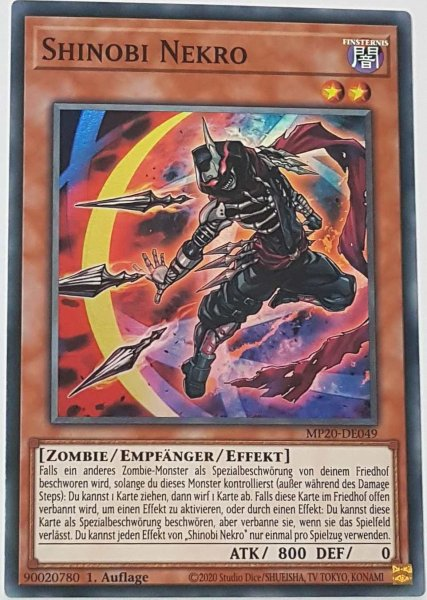 Shinobi Nekro MP20-DE049 ist in Super Rare Yu-Gi-Oh Karte aus 2020 Tin of Lost Memories 1.Auflage