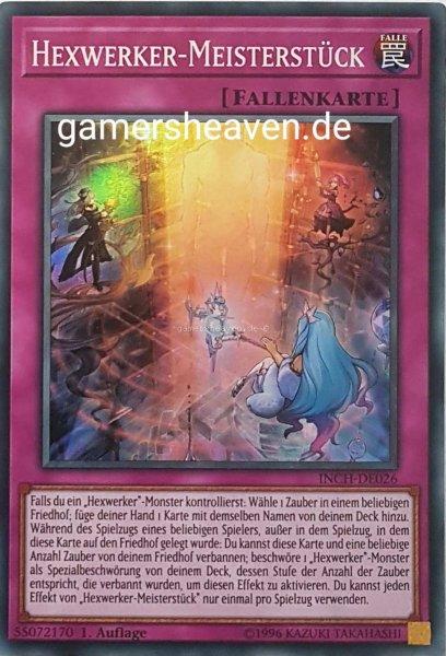 Hexwerker-Meisterstück INCH-DE026 ist in Super Rare Yu-Gi-Oh Karte aus The Infinity Chasers 1.Auflage