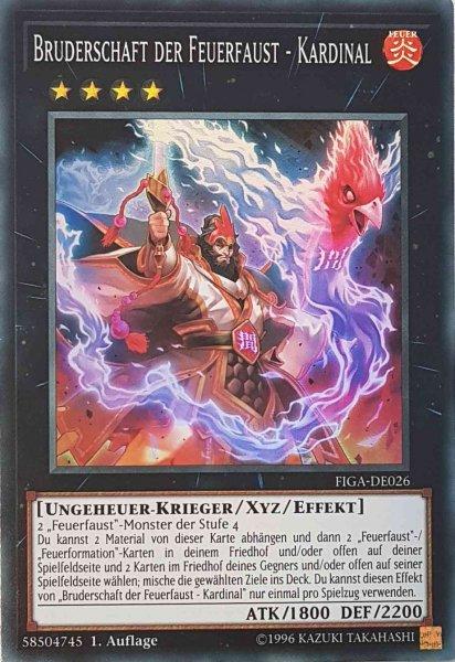 Bruderschaft der Feuerfaust - Kardinal FIGA-DE026 ist in Super Rare Yu-Gi-Oh Karte aus Fists of the Gadgets 1.Auflage