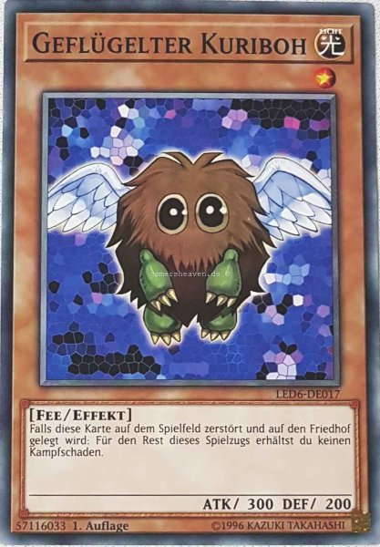 Geflügelter Kuriboh LED6-DE017 ist in Common aus Legendary Duelists: Magical Hero 1.Auflage