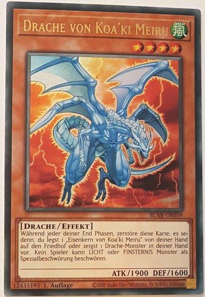 Drache von Koa'ki Meiru BLAR-DE059 ist in Ultra Rare Yu-Gi-Oh Karte aus Battles of Legend: Armageddon 1.Auflage