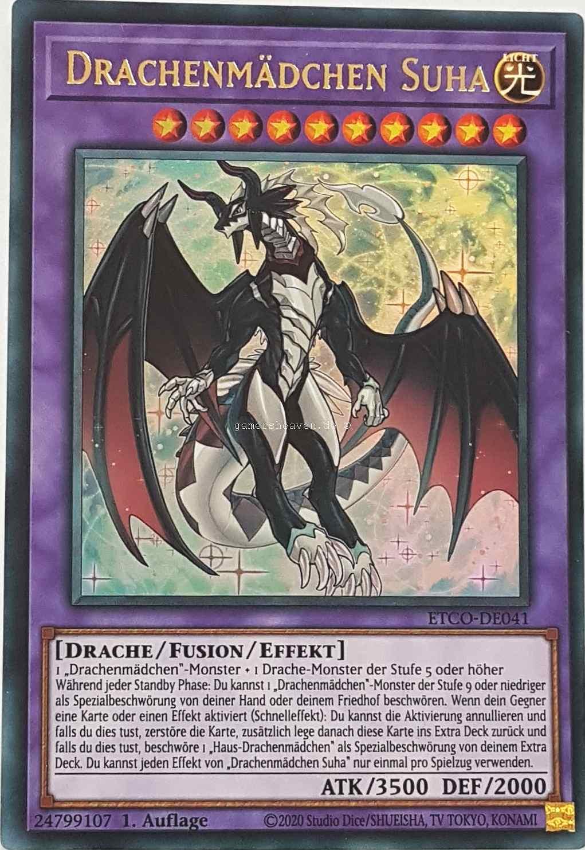 1.Auflage ETCO-DE041 Drachenmädchen Suha Yu-Gi-Oh! DE Ultra Rare