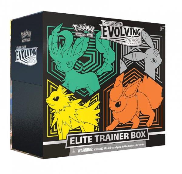 Pokemon Evolving Skies Elite Trainer - Leafeon, Umbreon, Jolteon, Flareon - Englisch