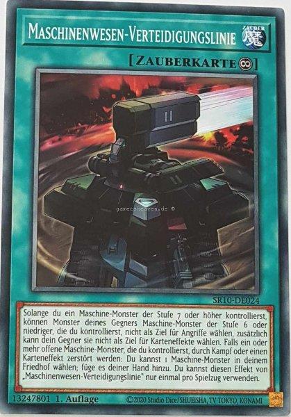 Maschinenwesen-Verteidigungslinie SR10-DE024 ist in Common Yu-Gi-Oh Karte aus Structure Deck: Mechanized Madness 1.Auflage