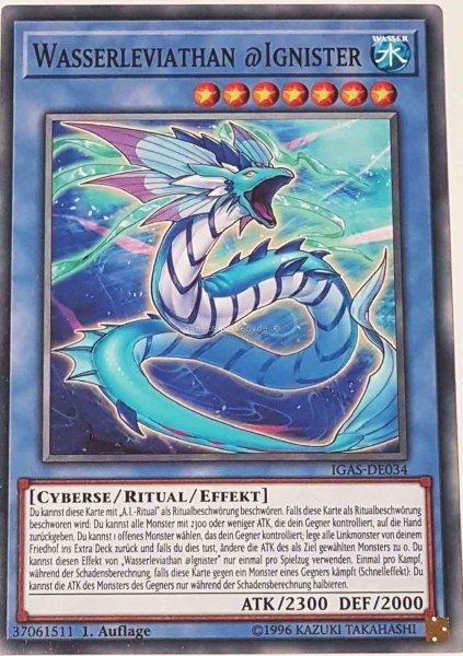 Wasserleviathan @Ignister IGAS-DE034 ist in Common Yu-Gi-Oh Karte aus Ignition Assault 1.Auflage