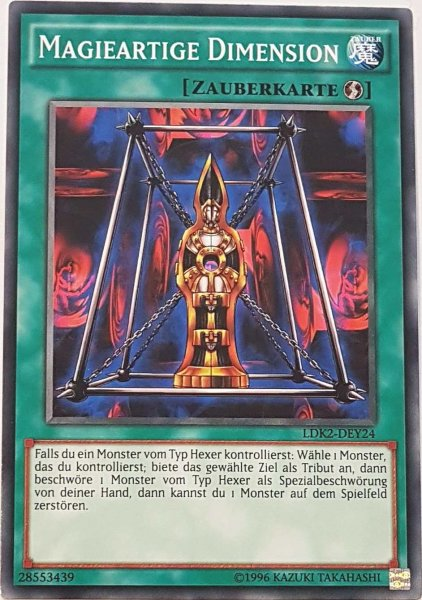 Magieartige Dimension LDK2-DEY24 ist in Common Yu-Gi-Oh Karte aus Legendary Decks 2