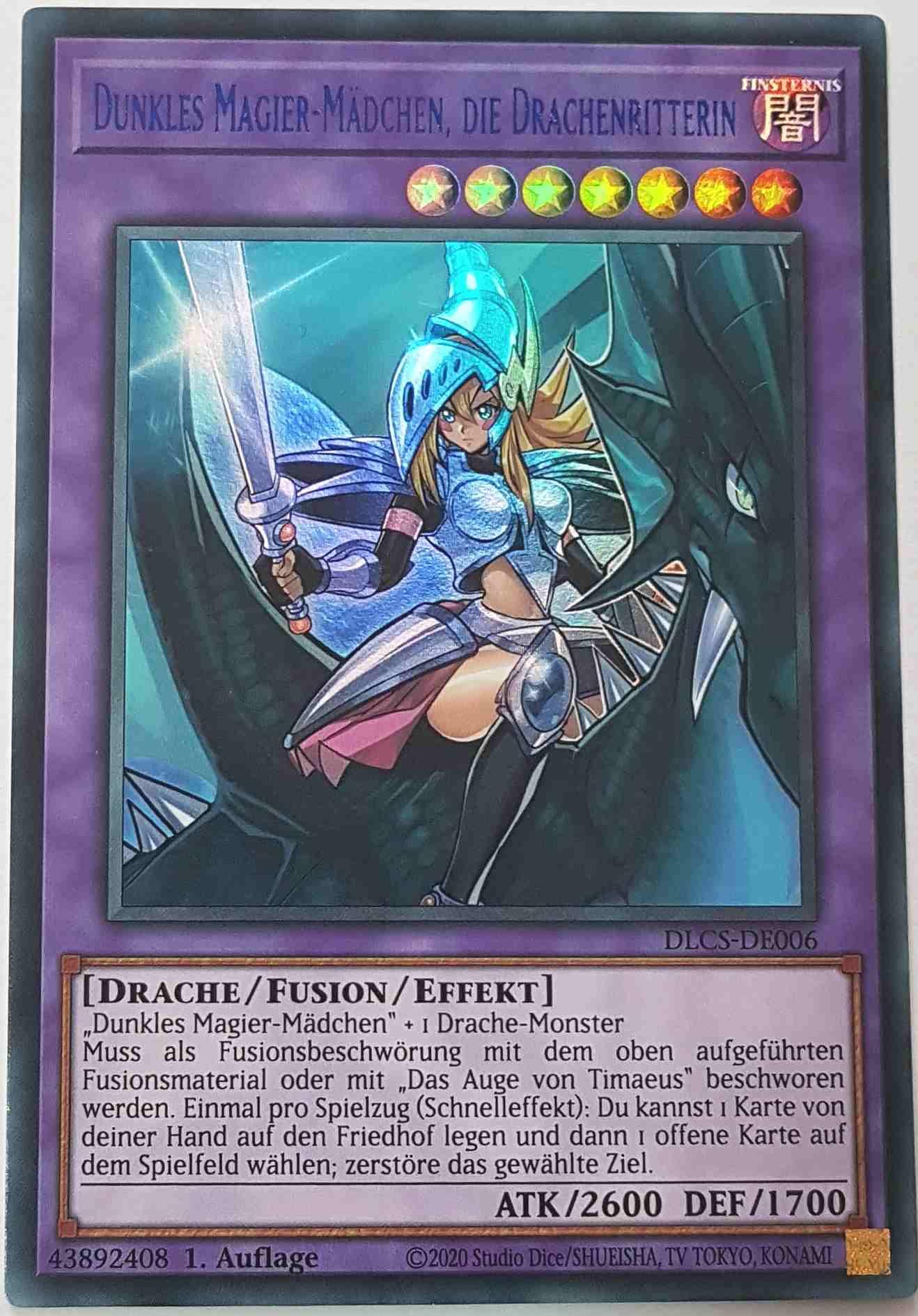 Yu-Gi-Oh DLCS-DE006 Dunkles Magier-Mädchen die Drachenritterin Gold 1.Auflage UR
