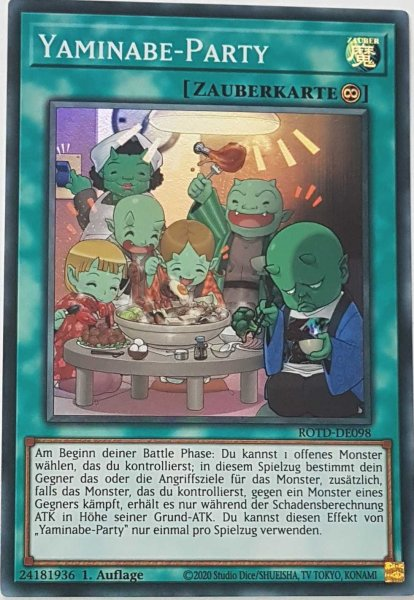 Yaminabe-Party ROTD-DE098 ist in Super Rare Yu-Gi-Oh Karte aus Rise of the Duelist 1.Auflage