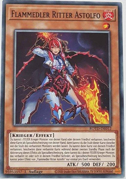 Flammedler Ritter Astolfo ROTD-DE012 ist in Common Yu-Gi-Oh Karte aus Rise of the Duelist 1.Auflage