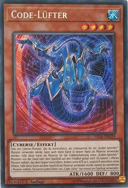 Code-Lüfter FIGA-DE039 ist in Secret Rare Yu-Gi-Oh Karte aus Fists of the Gadgets 1.Auflage