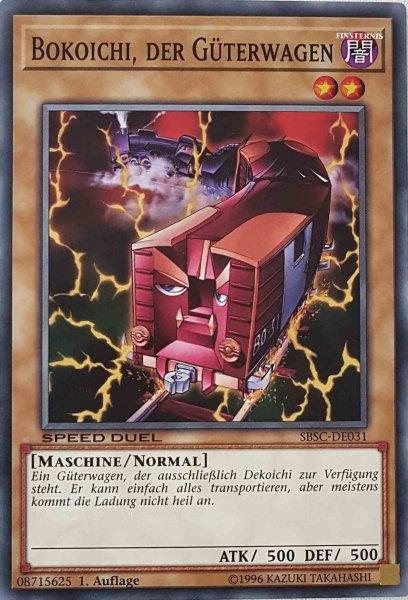 Bokoichi, der Güterwagen SBSC-DE031 ist in Common Yu-Gi-Oh Karte aus Speed Duel Scars of Battle 1. Auflage